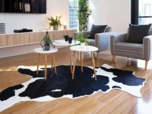 Add A Cowhide Rug for Instant Texture And Natural Style